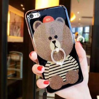 ☆新品☆.クマさんが可愛い♡ラメ入りキラキラケース iPhone6/6s(iPhoneケース)