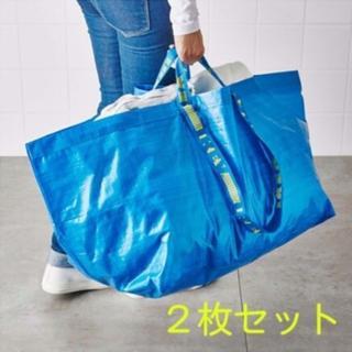 イケア(IKEA)のIKEAエコバッグ、ショッピングバッグ、ランドリーバッグLサイズ2枚(エコバッグ)