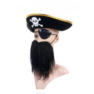 コスプレ 海賊 <帽子・眼帯・付けヒゲ> 3点セット イベント おもちゃ(小道具)