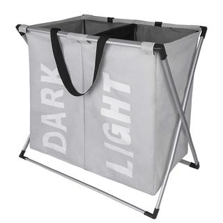 【大人気商品】大容量 折り畳み ランドリーボックス グレー