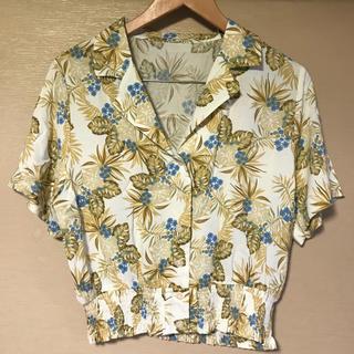 ジーユー(GU)の※はなはな様【GU】レトロプリント オープンカラーシャツ(シャツ/ブラウス(半袖/袖なし))