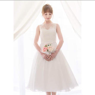 ANNAN WEDDING ミモレ丈ドレス