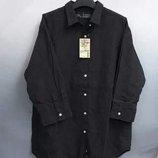 ムジルシリョウヒン(MUJI (無印良品))の新品 無印良品 オーガニックコットン楊柳 七分袖シャツ・ダークブラウン・XL(シャツ/ブラウス(長袖/七分))
