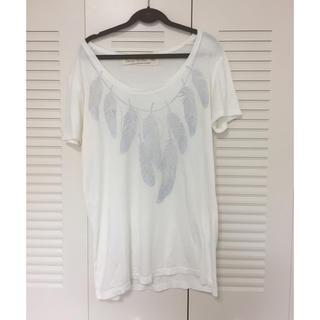 ゴア(goa)のgoa  フェザープリントTシャツ(Tシャツ(半袖/袖なし))