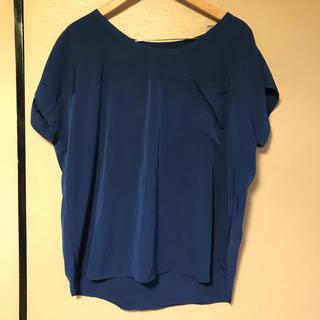 ジーユー(GU)の【GU】ポリエステルシャツ ブルー(シャツ/ブラウス(半袖/袖なし))