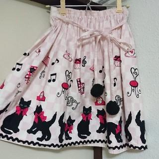 シャーリーテンプル(Shirley Temple)のShirley Temple    猫柄スカート(スカート)