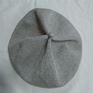 mature ha  トップギャザーリネンベレー(ハンチング/ベレー帽)
