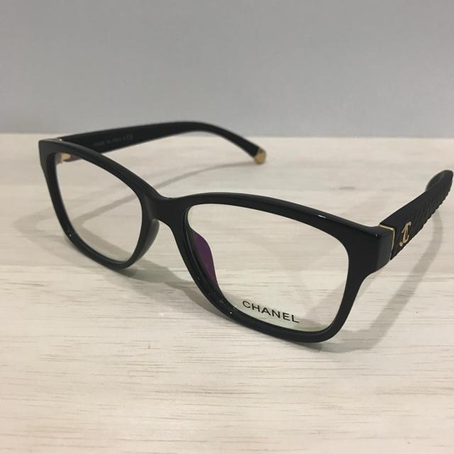 6eb319cf59271c CHANEL(シャネル)のシャネル メガネフレーム ブラック マトラッセ レディースのファッション小物(サングラス