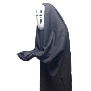 千と千尋の神隠し カオナシ 風 衣装セット (衣装、マスク、手袋) コスチューム(その他)