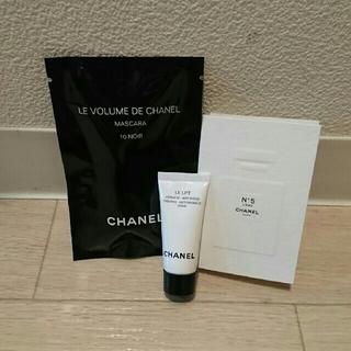 シャネル(CHANEL)のシャネル 試供品 3点セット 香水 マスカラ クリーム(サンプル/トライアルキット)