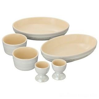 ルクルーゼ(LE CREUSET)のLe Creuset ペア テーブルウェア セット ホワイトラスター 新品  (食器)