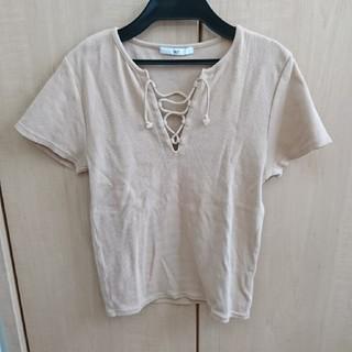 スライ(SLY)のレースアップティーシャツ(Tシャツ(半袖/袖なし))