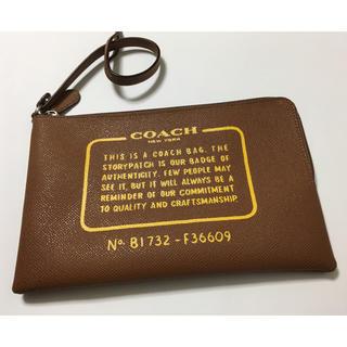 コーチ(COACH)の【未使用品】COACH レザーポーチ(ポーチ)