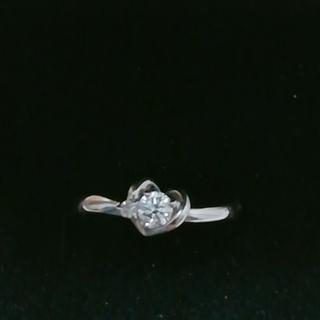クレージュ(Courreges)の美品ダイヤモンドプラチナリング(リング(指輪))