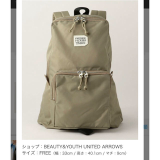 BEAUTY&YOUTH UNITED ARROWS - Beauty&youth別注  フレドリックパッカーズ バックパック