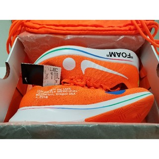 NIKE - 28.5 OFF-WHITE ZOOM FLY MERCURIAL FKオレンジ