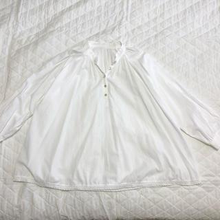 ネストローブ(nest Robe)の【美品】ネストローブコットン100%チュニック裾レース(チュニック)