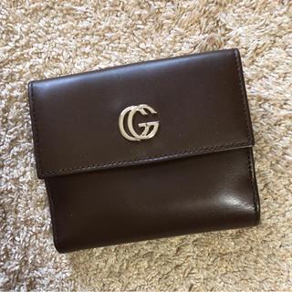 GUCCI グッチ 確実本物 コンパクト折財布 ブラウン サイフ ウォレット