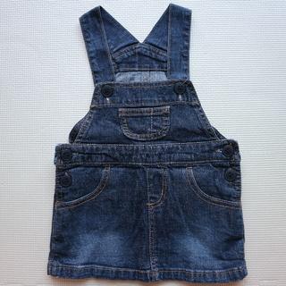 MUJI (無印良品) - 無印良品80cmジャンパースカート/ワンピース