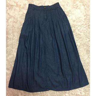 グリーンレーベルリラクシング(green label relaxing)のギャザースカート(ロングスカート)