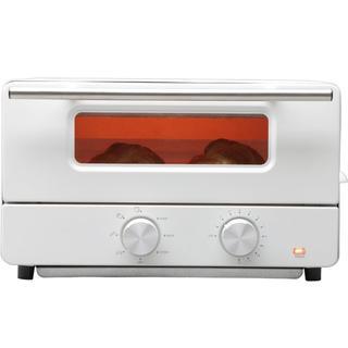 オーブントースター スチーム機能付 トースト2枚 ホワイト(その他)