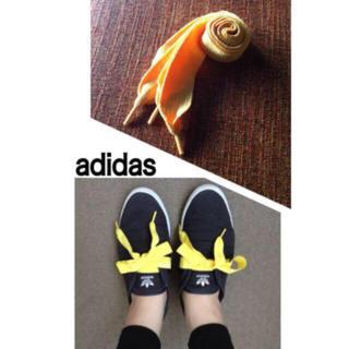 アディダス(adidas)のアディダスリレースロー イエロー靴紐 新品(その他)