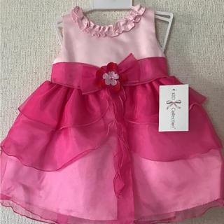 キャサリンコテージ(Catherine Cottage)の新品未使用タグ付き ベビードレス 90 ピンク(ドレス/フォーマル)