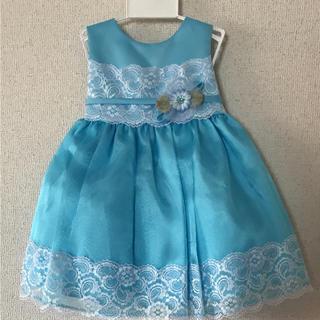 キャサリンコテージ(Catherine Cottage)の新品未使用タグ付き ベビードレス 95 ブルー(ドレス/フォーマル)