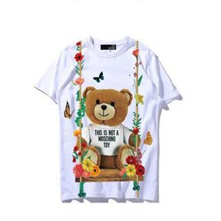 モスキーノ(MOSCHINO)のLOVE MOSCHINO Tシャツ ブランコ 小熊 可愛い プリント M(Tシャツ(半袖/袖なし))