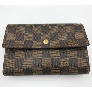 ルイヴィトン(LOUIS VUITTON)の美品 Louis Vuitton ポルト・モネ ダミエ・エベヌ 折り財布(折り財布)