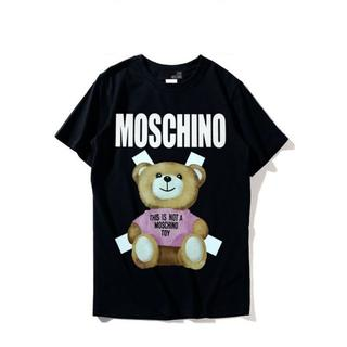 モスキーノ(MOSCHINO)のLOVE MOSCHINO ラブ モスキーノ Tシャツ カットソー ブラック L(Tシャツ(半袖/袖なし))