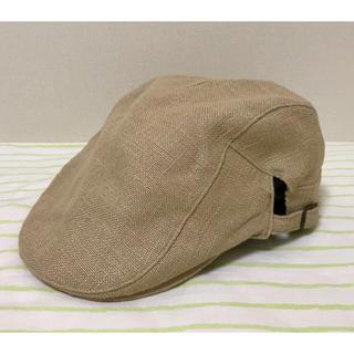 オーバーライド(override)のハンチング帽 ベレー帽 キャスケット キャップ ベージュ 無地(ハンチング/ベレー帽)