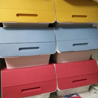 収納BOX 6個セット 三色☓2