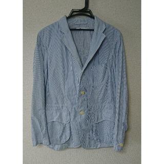ユニクロ(UNIQLO)の☆特別価格☆ unusually カーディガン ブルー ホワイト(テーラードジャケット)