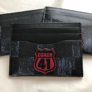 コーチ(COACH)のコーチ カード ケース ID 定期 名刺 入れ ネイビー系 シンプル 軽量 人気(名刺入れ/定期入れ)