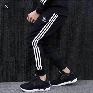 adidas - originals SST CUFFED TRACK PANTS 黒 XL