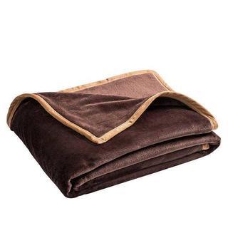 ☆ふんわり マイクロファイバー 毛布 シングル  ブラウン(毛布)
