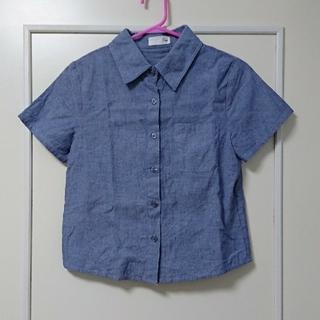 クリスプ(Crisp)の[Crisp/クリスプ]半袖シャツ ブルー(シャツ/ブラウス(半袖/袖なし))