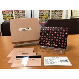 ミュウミュウ(miumiu)の激安!未使用! ミュウミュウ 5MV204 マドラス マルゲリータ 折財布(財布)