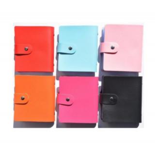 ブラック カードケース 名刺入れ 最大 120 枚 収納 高品質 レザー 大容量(ファイル/バインダー)