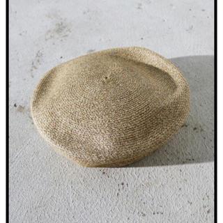 トゥデイフル(TODAYFUL)のTODAYFUL ペーパーベレー ベレー帽 春 夏 ペーパー素材 ベージュ(ハンチング/ベレー帽)