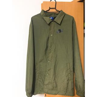 ナイキ(NIKE)のnike coach jacket big swoosh Mサイズ(ナイロンジャケット)