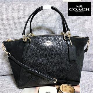コーチ(COACH)の送料無料 コーチ ハンドバッグ ショルダーバッグ スエード 黒 M004(ハンドバッグ)