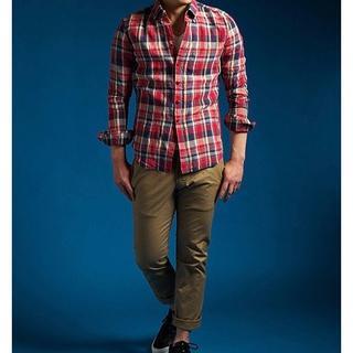ダブルジェーケー(wjk)の新品27000円 wjk BDチェックドレスシャツ AKMジュンハシモト(シャツ)