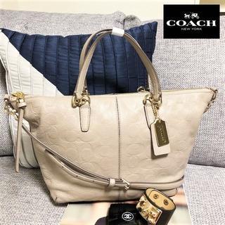 コーチ(COACH)の送料無料 美品 コーチ トートバッグ ショルダーバッグ 27963 M008(ハンドバッグ)