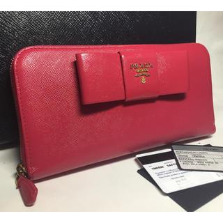 プラダ(PRADA)の大幅値下げ☆PRADA☆長財布☆サフィアーノ☆リボン(財布)