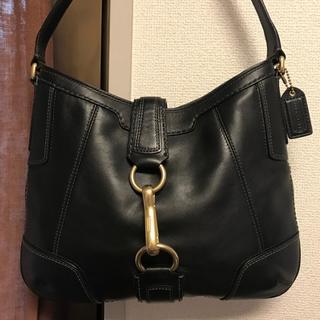 コーチ(COACH)の美品約5万円 COACH フルグレインレザーバッグ(ハンドバッグ)
