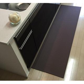 120 cm x 50 cm 洗濯いらず ずれない 抗菌 ふく楽 キッチンマット(玄関マット)