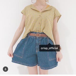 クリスプ(Crisp)の今季 フレンチスリーブチェックシャツ(シャツ/ブラウス(半袖/袖なし))