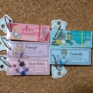 ディズニー(Disney)のディズニー☆単語カード5個セット(ノート/メモ帳/ふせん)